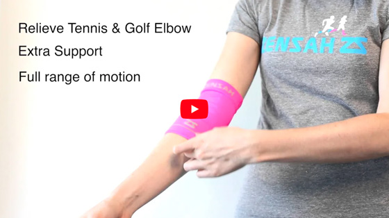 The Zensah Compression Elbow Sleeve helps to relieve tennis and golfers elbow. It has a flip-over cuff that provides extra targeted support. The elbow sleeve provides optimal support while offering a full range of motion